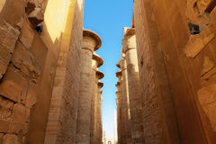 Huge pillars Karnak Stock Images