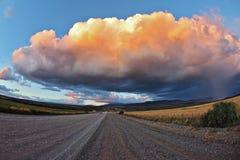 Huge pink - orange cloud Royalty Free Stock Photo
