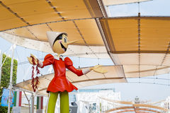 Huge Pinocchio statue at Expo 2015 in Milan, Italy Stock Photography