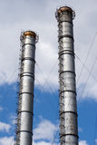 Huge Pipes Of The Plant Against The Sky Stock Images