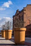 Huge planters Stock Images
