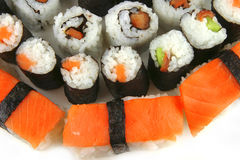 Huge plate of sushi Royalty Free Stock Images