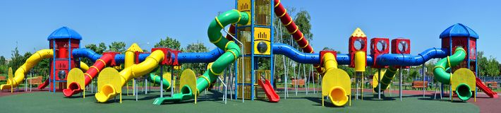 Huge playground in the park Royalty Free Stock Photo