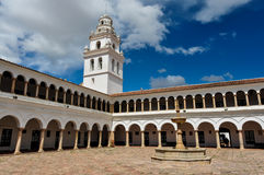 Huge plaza of Sucre, Capital of Bolivia Royalty Free Stock Image