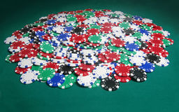 Huge poker pot royalty free stock photography