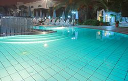 Huge pool at night Stock Image