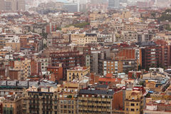 Huge populous city. With many different houses Stock Photography