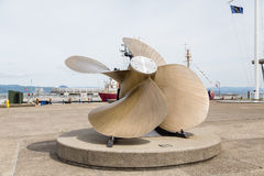 Huge Propeller On Pier Royalty Free Stock Images