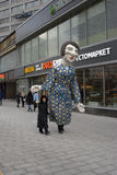 Huge puppet walks on New Arbat street in Moscow Royalty Free Stock Photos