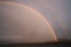 Huge rainbow Stock Photo
