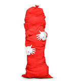 Huge red bag Royalty Free Stock Photo