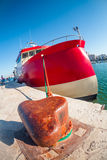 Huge red boat Royalty Free Stock Photography
