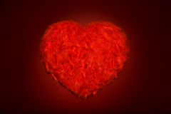 Huge red feather heart Royalty Free Stock Photos