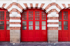 Huge red gate Stock Photography