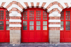 Huge red gate Stock Photo