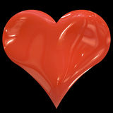 Huge red heart Stock Images