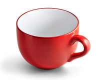 Huge red mug. Stock Photography