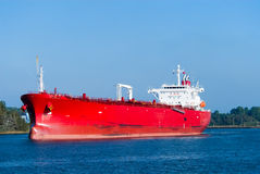 Huge red oil tanker Royalty Free Stock Photo