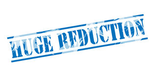 Huge reduction blue stamp Royalty Free Stock Image