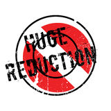 Huge Reduction rubber stamp Royalty Free Stock Photos