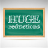 Huge reductions - the inscription chalk Stock Image