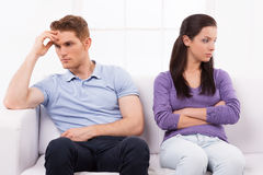 A huge rift in their relationship. Royalty Free Stock Images