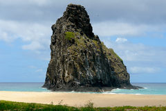 Huge rock formation. Natural Rock formation in Fernando de Noronha Brazil Royalty Free Stock Images