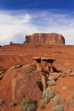 Huge rock formation in Monument Valley Stock Photo