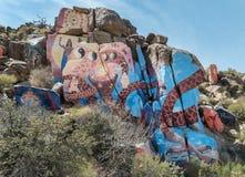 Impressive mural in the Arizona desert. Huge rock murals outside of Chloride, Arizona Royalty Free Stock Photography