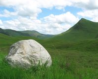 Huge rock in scottisch landscape Royalty Free Stock Image