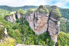 The huge rocks of Meteora Kalabaka Greece Stock Photo