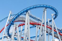A huge roller coaster Royalty Free Stock Photo