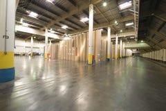 Huge Rolls Of Paper In Newspaper Factory Stock Photos