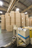Huge Rolls Of Paper In Newspaper Factory Royalty Free Stock Photos
