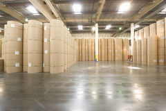 Huge Rolls Of Paper In Newspaper Factory Royalty Free Stock Photo