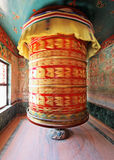 Huge rotating praying drum in Boudha Nath Stock Images
