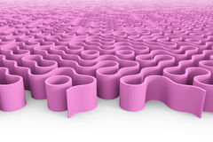 Huge rounded purple maze structure with multiple entrances Royalty Free Stock Photo