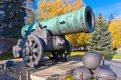 Huge Russian Cannon Royalty Free Stock Images