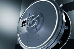 Huge Safe Bank Vault Royalty Free Stock Photo