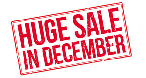 Huge Sale in December vector illustration