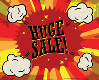 Huge sale label. Huge sale  color abstract label Royalty Free Stock Photos