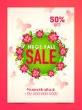 Huge Sale Poster, Banner or Flyer design. stock illustration