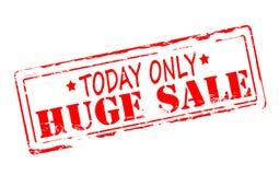 Huge sale. Rubber stamp with text huge sale inside, illustration royalty free illustration
