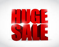 Huge sale sign illustration design Royalty Free Stock Photography