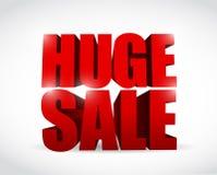 Huge sale sign illustration design Royalty Free Stock Photography