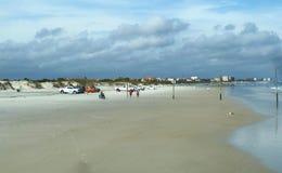 Huge sand beach at Daytona Beach Stock Photography