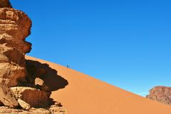 Huge sand dune Stock Images