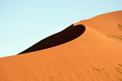 Huge sand dune of Sossusvlei. Picture taken in Namibia stock photos