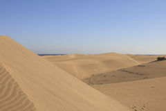 Huge sand dunes in Gran Canaria Stock Image