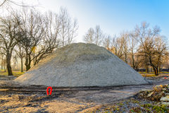Huge Sand Heap Royalty Free Stock Photo